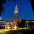 Hayes Hall under the moonlight.
