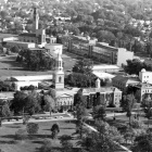 B/W Aerial view of South Campus, 1972.