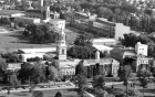 B/W Aerial view of South Campus, 1972