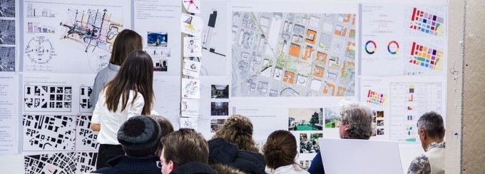 Urban Design students talk about their recent projects in studio presentations