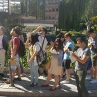 students tour the city of Madrid on a summer study abroad program