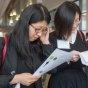 students at a career fair.