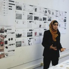 Photograph of Salwa Alawneh giving a presentation.