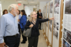Guests enjoy an exhibit on the history of Hayes Hall. Photo: Joe Cascio Photography