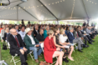 Hundreds gathered for the tented celebration of Hayes Hall. Photo: Joe Cascio Photography