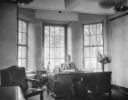 Samuel Capen, UB chancellor from 1922-1950, at his desk in Hayes Hall. Hayes Hall was the early home of the university's central administrative offices. University Archives, call number: 30H:10(2)
