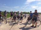 On a bicycle tour, students visit a former Soviet airfield. Tartu, Estonia. Photo by Daniel B. Hess.