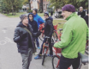 As local host of the ACSP 2018 national conference, the Department of Urban and Regional Planning showcased Buffalo as a center of innovation in urban planning. Daniel Hess (pictured left), program chair, leads conference-goers on a bicycle tour of the city.