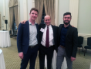 At the UB Career Conversations event with Mark Nusbaum (MArch '85 & BPS '83), senior associate of FXCollaborative, and students Kevin Turner (MArch '19) (left) and Elias Kotzambasis (MArch '19) (right), both of whom have interned with the firm. Photo: Joyce Hwang