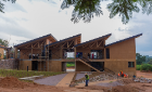 Rwanda Institute for Conservation Agriculture under construction. Photo courtesy of MASS Design Group