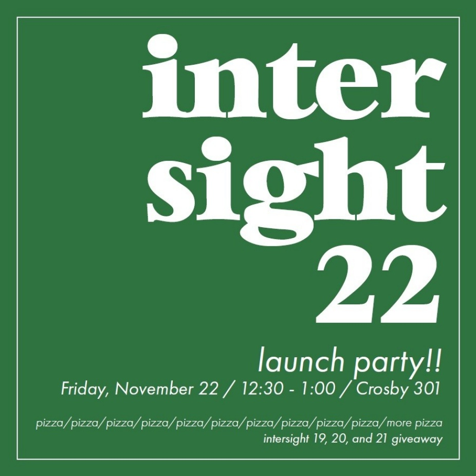 Green square graphic detailing the launch event for Intersight 22 on Friday Nov. 22.