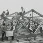 Roof under construction, Tuskegee Institute.
