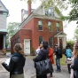 students tour historic homes in Buffalo, NY during studio tour.
