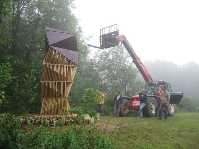 Bat Tower, Griffis Sculpture Park, East Otto, NY | photo: Joyce Hwang