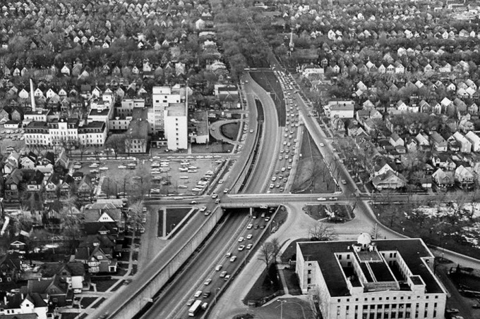 Kensington Expressway sliced through the heart of Buffalo's neighborhoods. Buffalo Public Works Department(171 KB).