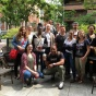 A group photo of the students who participated on the trip in the past in Madrid