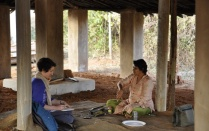 Erin Sweeney conducts field work in Odisha in India through a research program led by the Food Systems Planning and Healthy Communities Lab and UB's Community for Global Health Equity.
