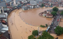 Flooding in Indonesia.