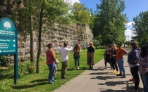 Darren Cotton and Stephanie Bucalo lead a tour of the North Buffalo Rails to trails.