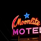 Moonlite Motel Neon Sign.